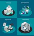 scientific laboratory 2x2 isometric design concept vector image vector image