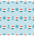 seamless pattern of sailboats anchors and wheels vector image vector image