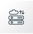 seo hosting icon line symbol premium quality vector image