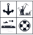 Set of maritime icons vector image