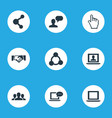 Set of simple internet icons