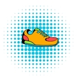 Sneakers icon comics style vector image vector image
