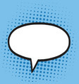 speech bubble in pop art comics style blue colors vector image