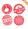 Stamp sticker Best Seller collection - - EP vector image vector image