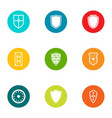 switchboard icons set flat style vector image