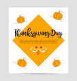 thanksgiving autumn fall background with pumpkins vector image vector image