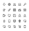 User Interface Colored Line Icons 14 vector image vector image