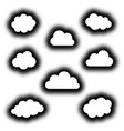 various creative clouds icons collection vector image vector image