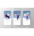 virtual cloud storage service mobile app page vector image