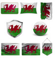 wales wales flags vector image vector image