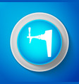 white icon isolated on blue background vector image vector image