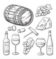 wine hand drawn or sketch isolated vector image