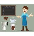 coffee man vector image