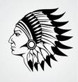 Indian Head vector image
