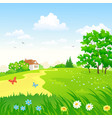 green countryside landscape vector image