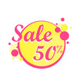 colorfull sale icon in a circle poster banner vector image