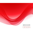 abstract background with red smooth color vector image vector image