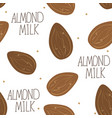 almond milk - set of design elements and vector image vector image