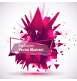 an abstract explosion vector image vector image