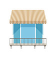 balcony with shutters awning vector image
