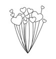 balloons helium with heart shape vector image vector image