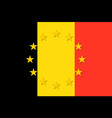 belgium national flag with a circle of eu vector image vector image