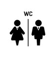 black silhouette man and woman icons vector image