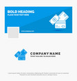 blue business logo template for credit card money vector image vector image