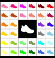 Boot sign felt-pen 33 colorful icons at