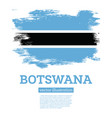 botswana flag with brush strokes independence day vector image vector image