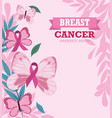 breast cancer awareness month motivational card vector image vector image