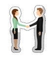 business couple avatars isolated icon vector image vector image