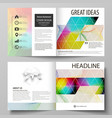 business templates for square bi fold brochure vector image vector image