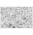 car service doodle set vector image