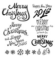 Christmas Retro Icons Elements And Set happy new vector image