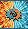 comic vs creative background vector image vector image