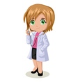 cute cartoon a doctor vector image vector image