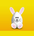 cute easter egg bunny decoration vector image