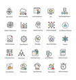 data science flat icons set vector image