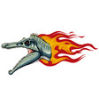 dinosaurus spinosaurus head art vector image vector image