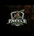 elf mascot sport logo design vector image vector image