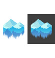 emblem with mountains banner for t-shirt prints vector image vector image