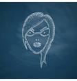 face girl icon vector image