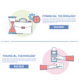 financial technology infographic vector image vector image