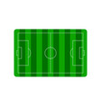 football soccer field plan vector image