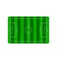 football soccer field plan vector image