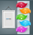 frame paper business infographic five items vector image vector image