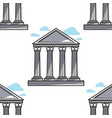 greek pillars ancient architecture seamless vector image vector image