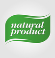 green natural product brand vector image vector image
