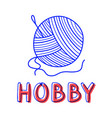 hand draw knitting icon in doodle style for your vector image vector image